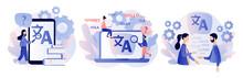 Translation Concept. Online Tr...