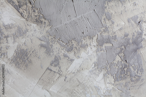 Fototapety, obrazy: Concrete wall with gray brush strokes abstract grungy background