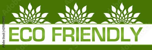 Obraz Eco Friendly Green Leaves Circular On Top  - fototapety do salonu