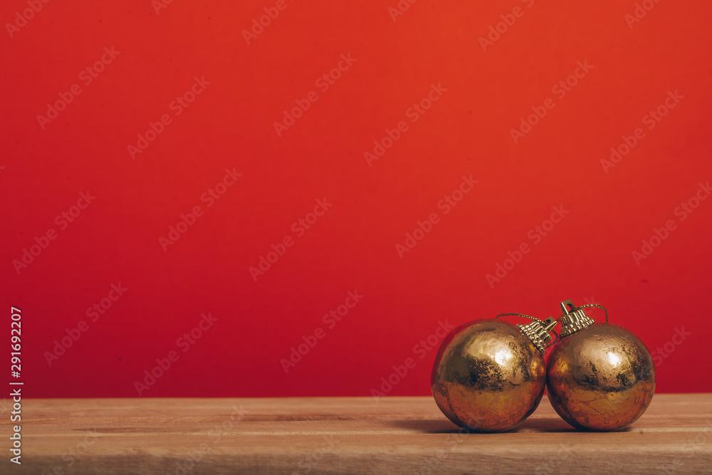 Fototapety, obrazy: Christmas background. Christmas gift. Background. Toys. Decoration.