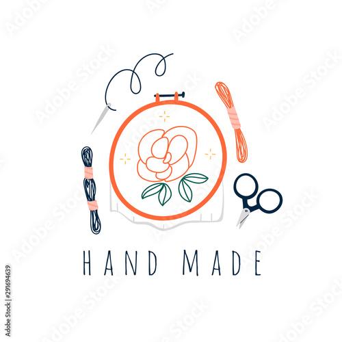 Fotografia Various embroidery tools