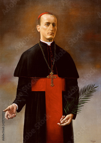 Canvas Print Blessed Aloysius Stepinac altarpiece in parish church of the Holy Trinity in Kra