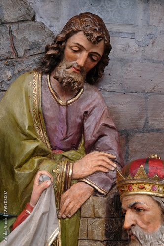 Slika na platnu Saint Joseph, Nativity Scene, altarpiece in the church of Saint Matthew in Stita