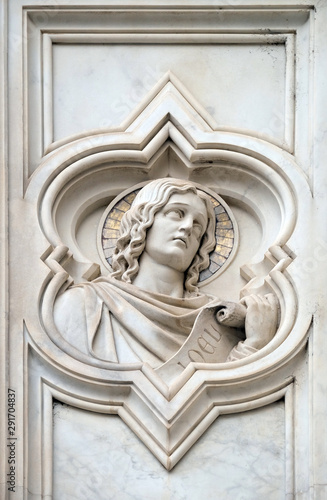 Платно Joel prophet, relief on the facade of Basilica of Santa Croce (Basilica of the H