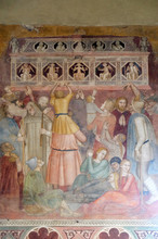 The Crowd Witnessing The Preaching, Detail From St Peter Of Verona Preaching, Fresco By Andrea Di Bonaiuto, Spanish Chapel In Santa Maria Novella Principal Dominican Church In Florence, Italy