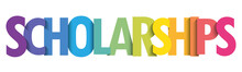SCHOLARSHIPS Colorful Vector T...