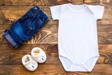 Mockup Of White Baby Bodysuit ...