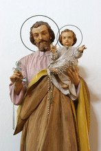 Saint Joseph Holding Child Jes...