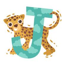 Jaguar And The Letter J. Vecto...