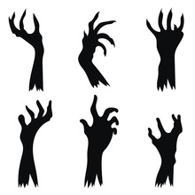 Set Of Hand Zombies Crawling O...