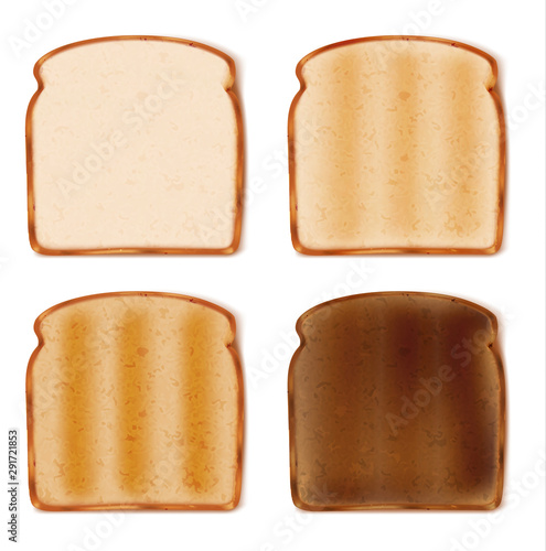 Fototapeta sliced toast bread isolated on white