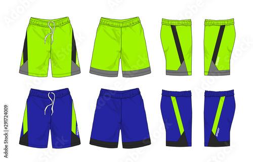 Obraz Set of Sport shorts template stock illustration - fototapety do salonu