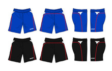 Set Of Sport Shorts Template S...