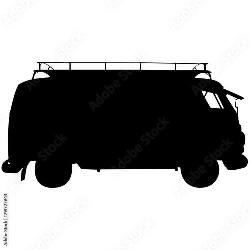 Canvas Campervan Silhouette Vector