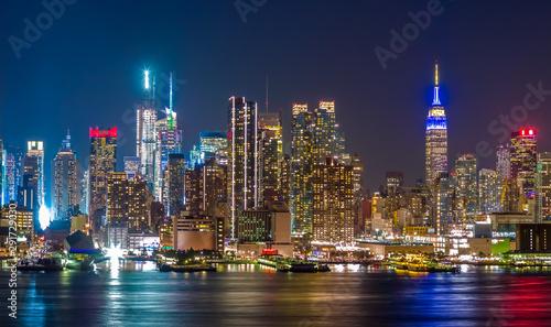 Poster New York New York City Manhattan midtown buildings skyline