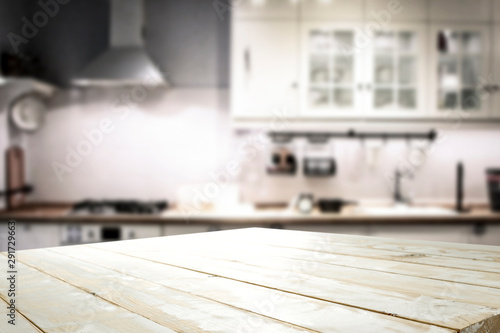 Printed kitchen splashbacks Amsterdam White wooden board of free space for your decoration and kitchen furniture