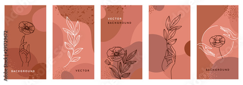 Design templates for social media stories and bloggers Wallpaper Mural