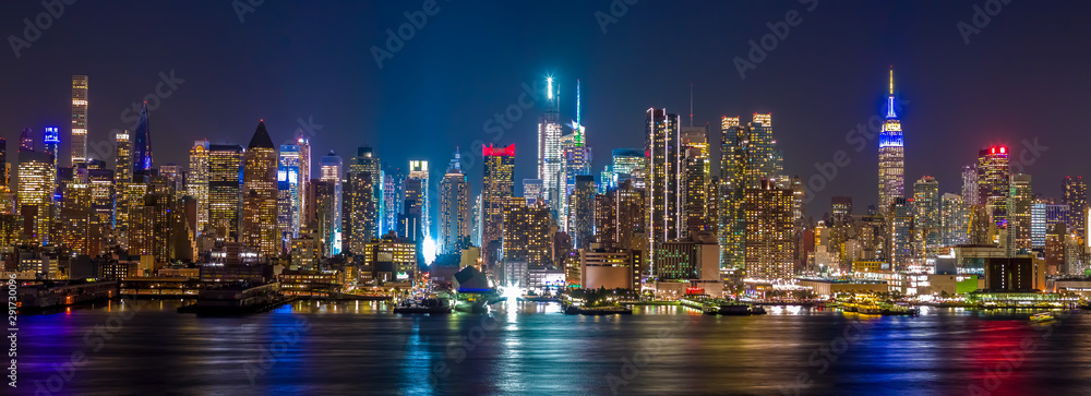 Fototapety, obrazy: New York City Manhattan midtown buildings skyline