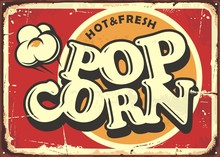 Hot And Fresh Popcorn Vintage ...