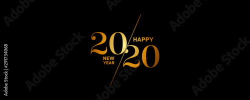 2020 Logo Happy New Year Background Wallpaper Mural