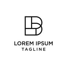 Initial Letter Logo LB, BL Logo Template