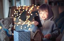 Christmas Mood. Cute Little Ch...