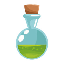 Spell Bottle Halloween Isolated Icon
