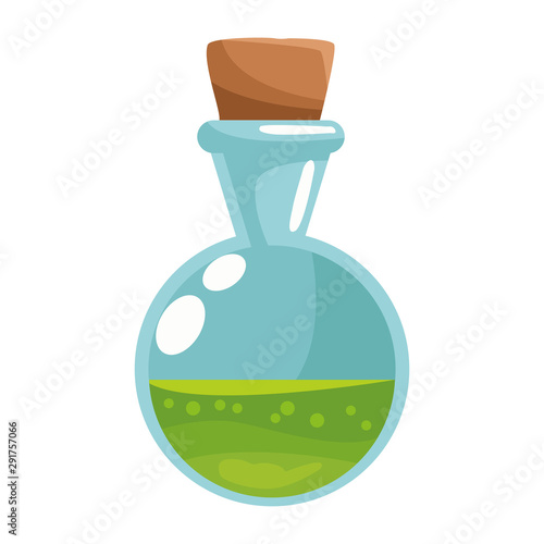Photo spell bottle halloween isolated icon
