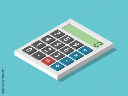 Canvastavla Isometric calculator displaying zero