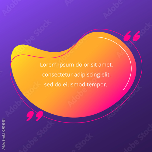 Quote blank frame vector template Wallpaper Mural