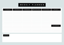 Printable Weekly Planner With ...