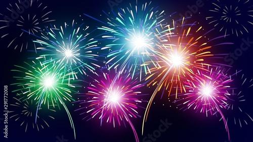 Firework. Slika na platnu