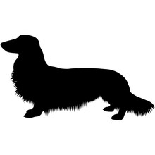 Dachshund (Longhaired)  Silhou...