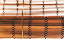 Bamboo Roller Blinds In Brown Color