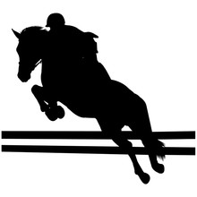 Show Jumping Silhouette Vector