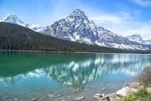 Snowy Mountain Reflected In Tu...