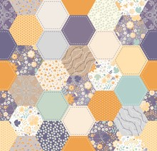 Seamless Patchwork Pattern In ...