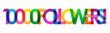 10000 FOLLOWERS! bright and colorful typography banner