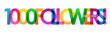 1000 FOLLOWERS! bright and colorful typography banner