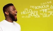 Young Millennial Afro Man Sayi...
