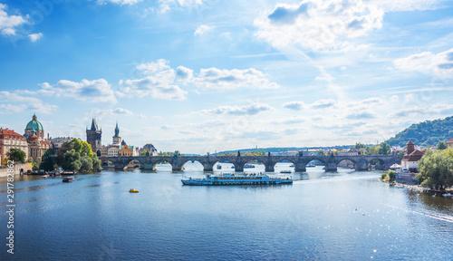 Fotografie, Obraz  Vltava River Prague