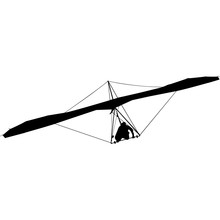Hang Gliding Silhouette Vector