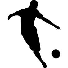 Kickball Silhouette Vector
