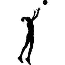 Netball Women Silhouette Vector