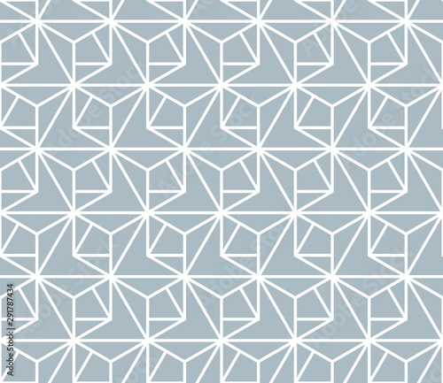 Fototapeten Künstlich The geometric pattern with lines. Seamless vector background. White and blue texture. Graphic modern pattern. Simple lattice graphic design