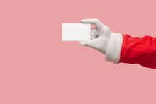 Santa Claus Hand Holding Credit Card.