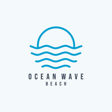 Water Ocean Wave Logo Abstract...