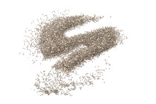 Many Chia Seeds Isolated On White Background