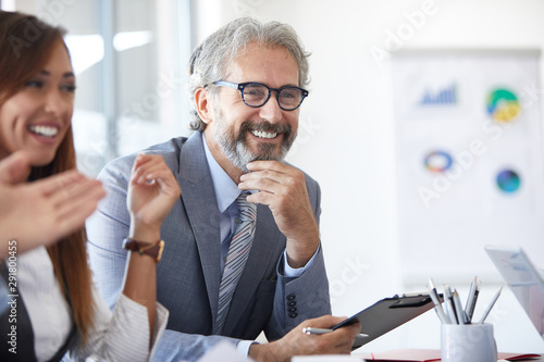 businessman senior office portrait corporate meeting