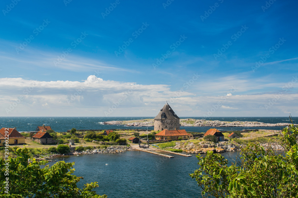 Fototapety, obrazy: Christianso - duńska malownicza wyspa obok Bornholnu na morzu Bałtyckim